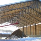 Structure d'entreposage pour fumier solide ou liquide