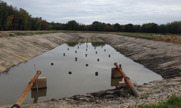 Nettoyage et réparation d'étang aéré| Ville de Donnacona